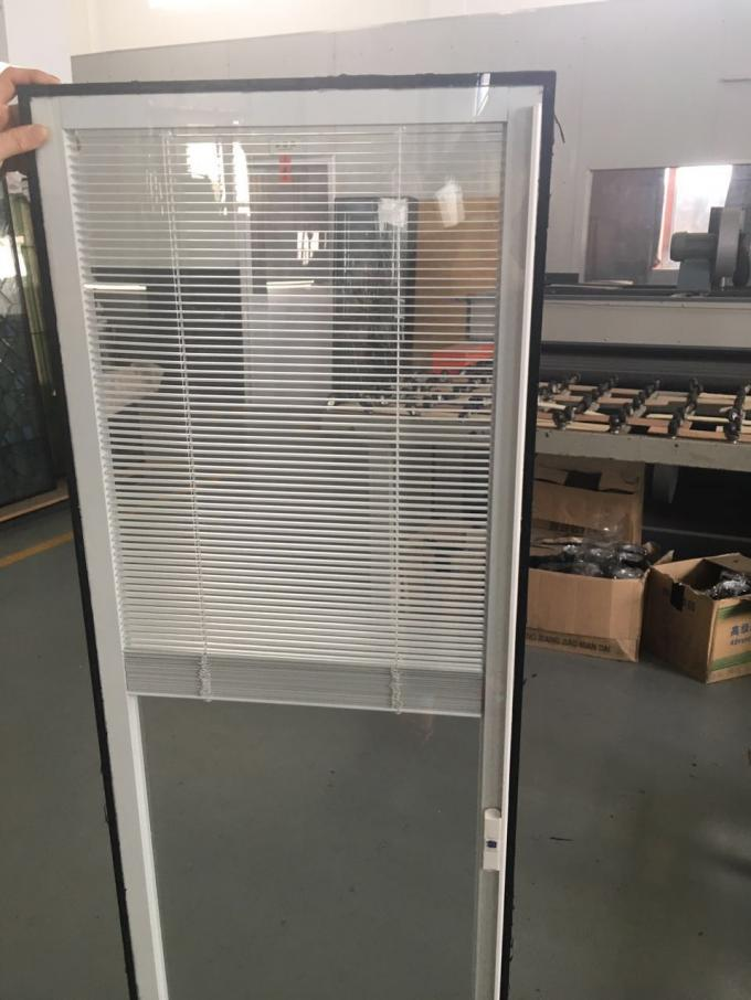 Horizontal Blinds Between Glass Door Inserts Thermal Sound Insulation