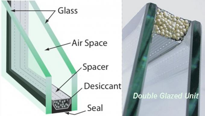 Architectural Energy Saving Glass , Clear Oval Insulated Glass Panels