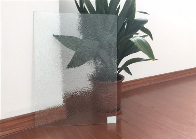 Curve / Flat Textured Glass Sheets , Obscure Frosted Patterned Glass