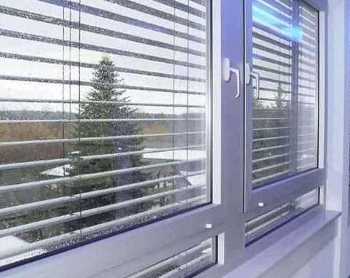 Horizontal Pattern Blinds Between Glass , Aluminium Blinds For Door Window