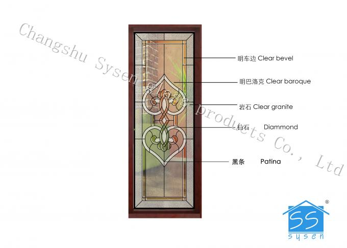 Fire Rated Door Glass Panels , Residential House Translucent Glass Panels