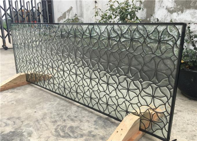 "Hollow Decorative Window Glass Panels 08""*36"" Brass Clean 16-30 Mm Thickness"