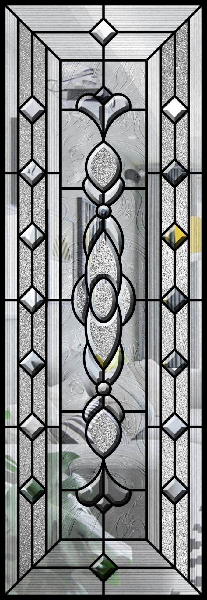 Building Super Decorative Glass Window Panels Temperature Control Impact Shield