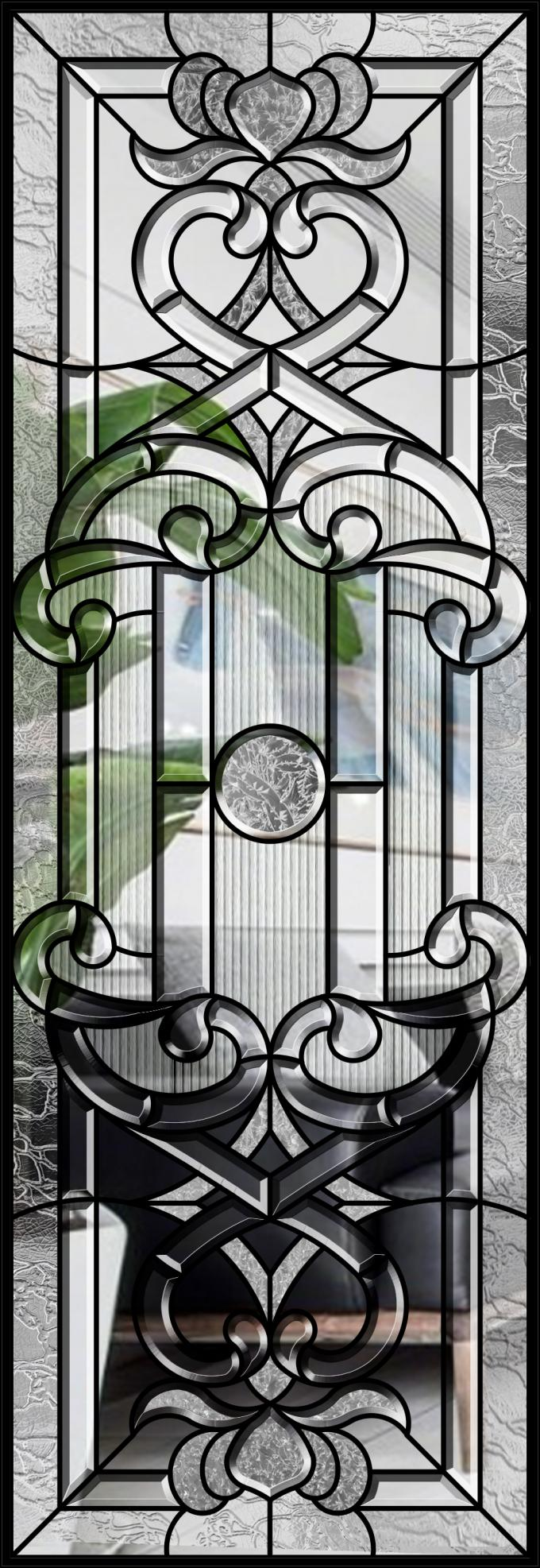 Safety Custom Size Decorative Panel Glass , Decorative Glass Windows Light Diffusion Art