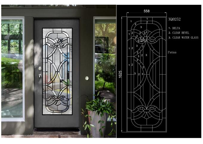Antique Decorative Panel Glass , Solid Flat Tempered Glass Panels For Building