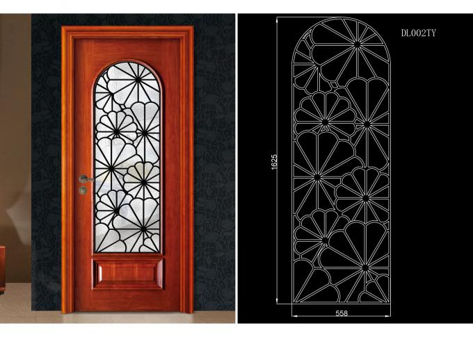 Frosted / Tinted / Reflective Plastic Frame For Door Glass Good Sealing Performance