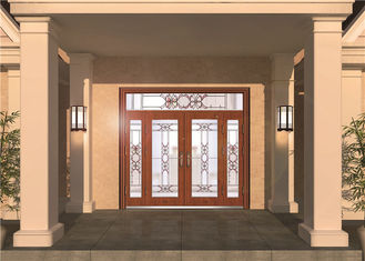 China Custom Front Entry Door Glass , Colored Decorative Glass Panel For Door supplier