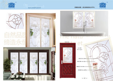 China Tempered Decorative Glass Windows Bump Resistant Keeping Warm Various Shape supplier