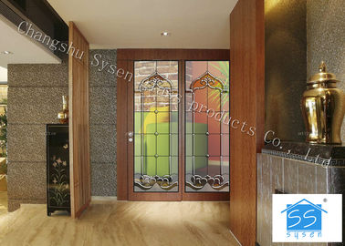 "China 08""*36"" Sliding Glass Doors Theft Proof Brass / Nickel / Patina Available supplier"