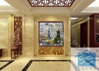 China Double Tempered Decorative Window Glass Panels , Black Patina Home Window Glass supplier