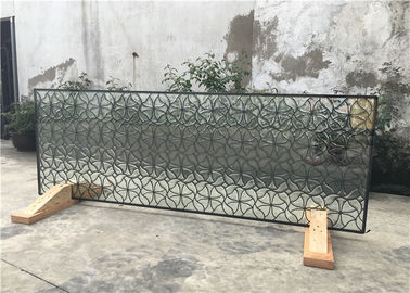 "China Hollow Decorative Window Glass Panels 08""*36"" Brass Clean 16-30 Mm Thickness supplier"