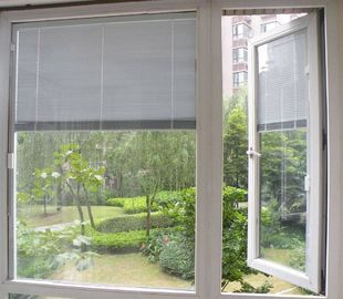 "China 22""*64"" Inch Blinds In Glass , White  Tempered Glass With Blinds Inside supplier"