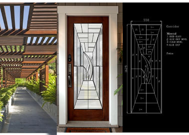 China Primed White Decorative Panel Glass  For Doors , Sidelights , Transoms supplier