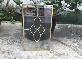 China Clear Cabinet Door Glass Panels , Various Shape Decorative Glass For Kitchen Cabinets supplier