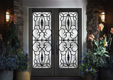 China Professional Iron Glass Entry Doors For Building Sound Insulation supplier
