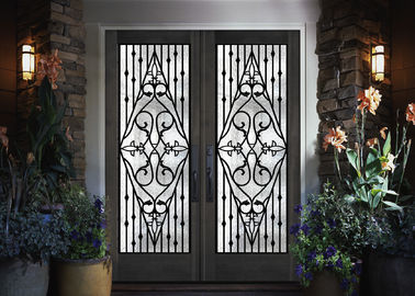 China Galvanized Steel Remarkable Inlaid Door Glass For Building Hand Forged supplier
