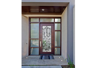 China Sidelight Decorative Panel Glass , Architectural Stained Glass Door Panels supplier