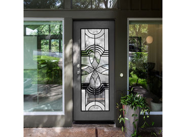 China Natural Light Elegant Entry Door Custom Decorative Glass Windows Simple Diffusion Art supplier
