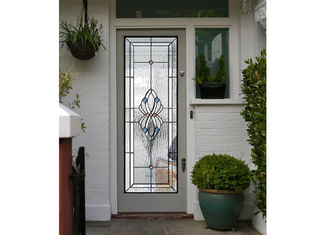 China Polished Wrought Iron Glass Double Entry Doors Firm Type Iron Mosaic Glass Thickness 30Mm supplier