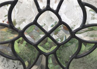 Black Patina Door Glass Panes , Heat / Noise Resistance Decorative Glass Panes