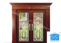 Good Quality Decorative Panel Glass & Curve / Flat Art Glass Panels Patina Brass Black Chrome Red Copper Optional on sale
