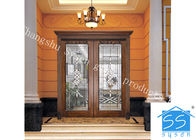 Single Round Head Decorative Panel Glass For Entry Door Low E 3.2m Tempered