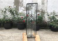 Square Top Eyebrow Wrought Iron Glass Galvanized Steel Anti Rusting
