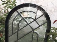 Round Top Architectural Decorative Panel Glass , Solid Flat Tempered Glass Panels