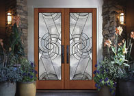 Double Pane Hollow Stained Glass Panels Air / Argon Insulating Thickness 16-30mm
