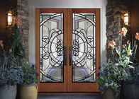 Removable Theft Proof Decorative Panel Glass Brass / Nickel / Patina Caming