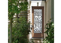 China Distinctive Customization Wrought Iron Glass Door Inserts Excellent Climate Resistance company