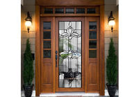 Door Embroidered Beveled Clear Art Glass Sheets ,  Decorative Panel Glass