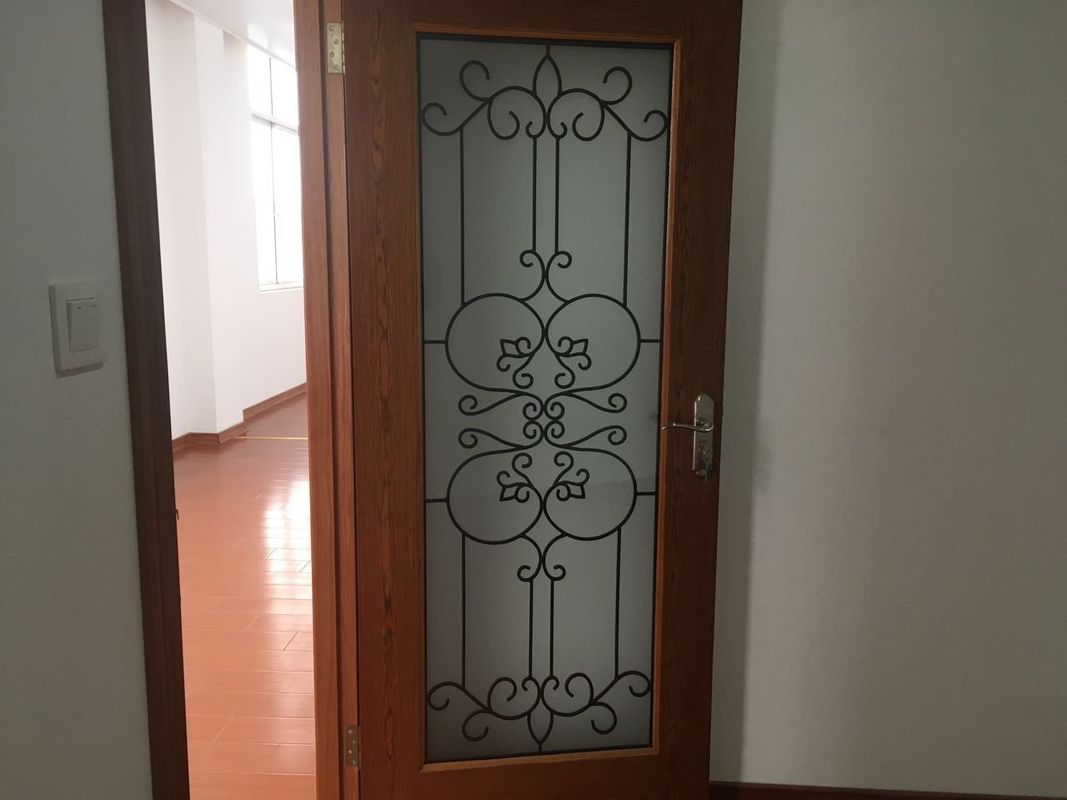 Oval Shaped Iron Glass Entry Doors Antiseptic Wrought Iron Doors