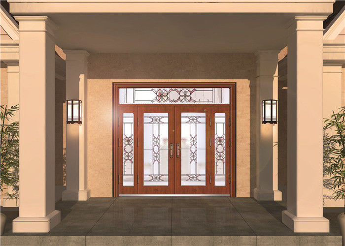 Custom Front Entry Door Glass Colored Decorative Glass Panel For Door