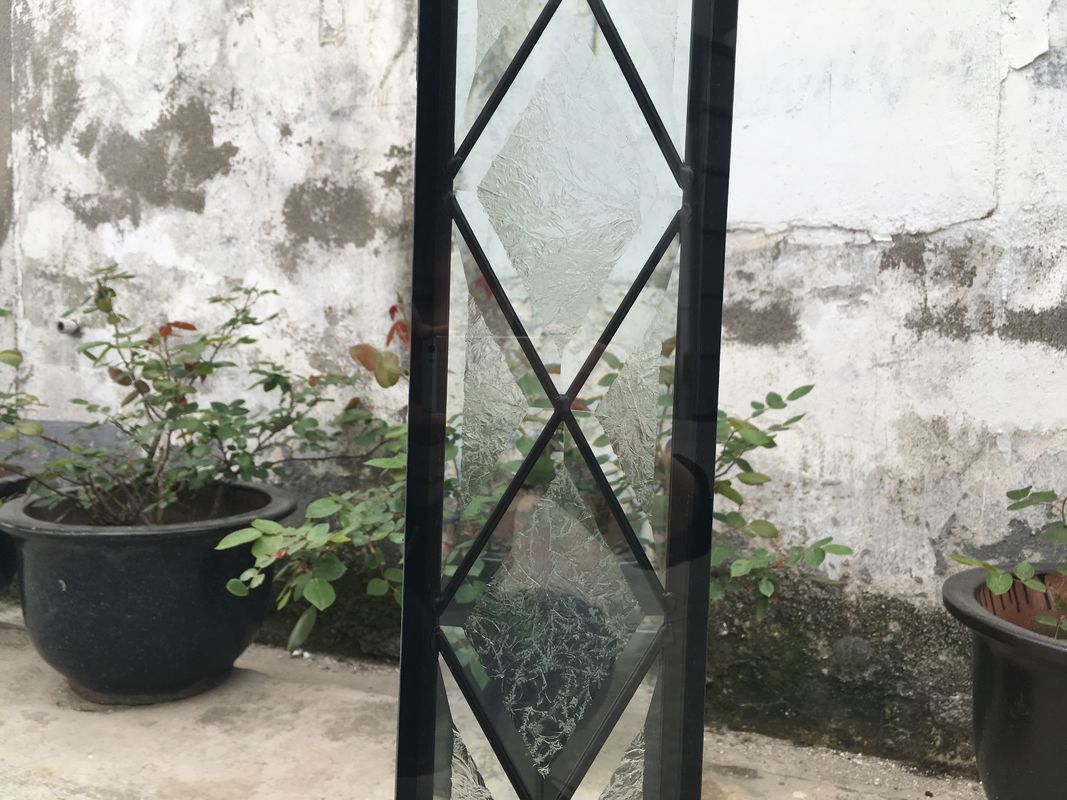 Patterned Interior Solid Glass Door Decorative Sliding
