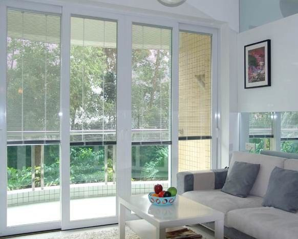 China Dust Free Blinds Inside Gl White Aluminium Material Sound Insulation Supplier