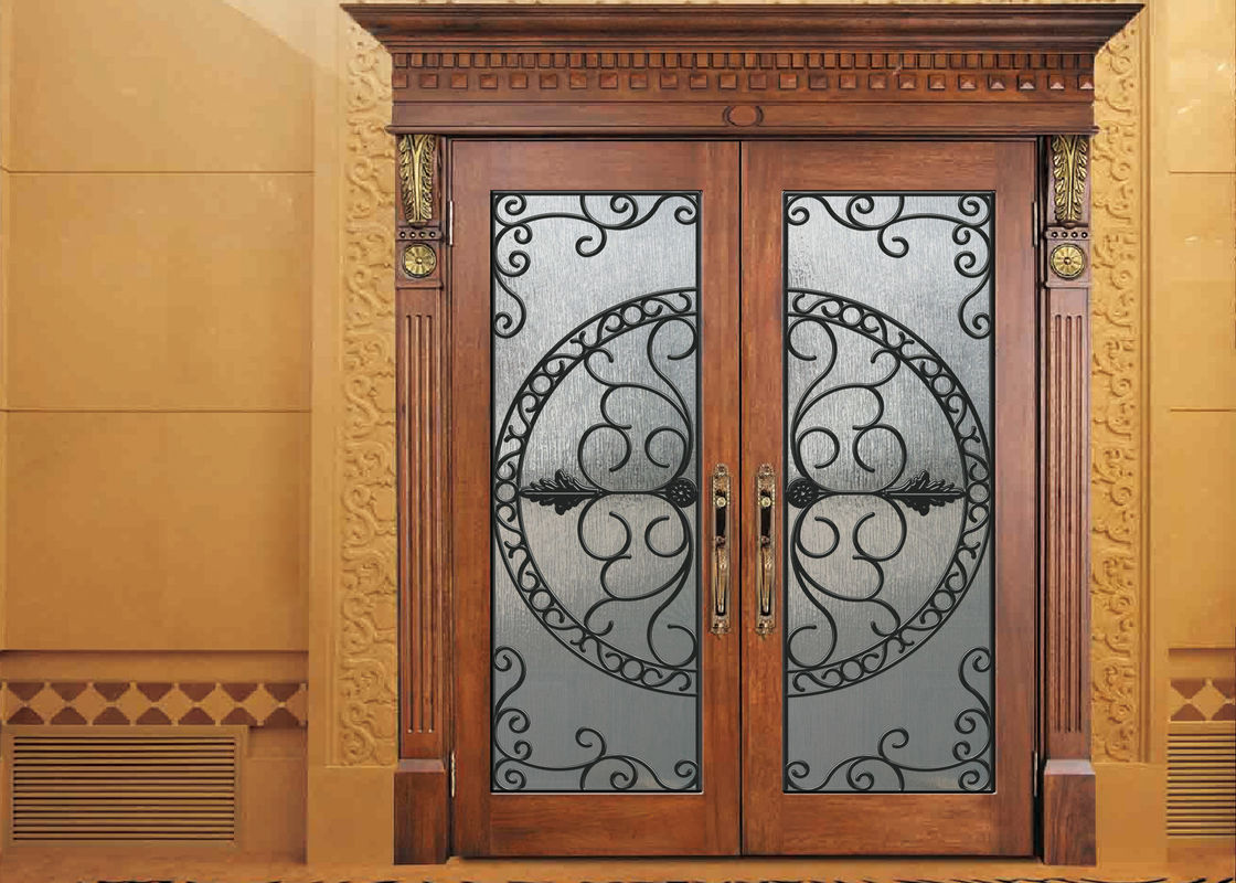 Glass lowes wrought iron entry doors and glass agon filled - 28 inch exterior steel door for sale ...