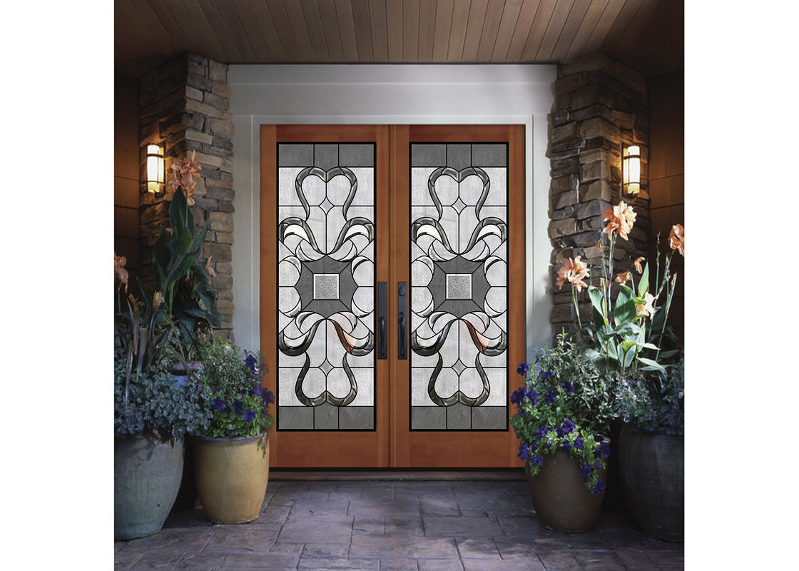 Wood Frame Dedorative Sliding Gl Door Black Patina Internal Doors