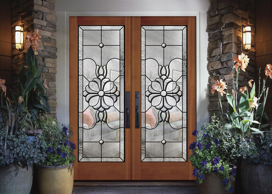 Wood Frame Dedorative Glass Sliding Door  Black Patina Internal Glass Sliding Doors & Wood Frame Dedorative Glass Sliding Door  Black Patina Internal ...
