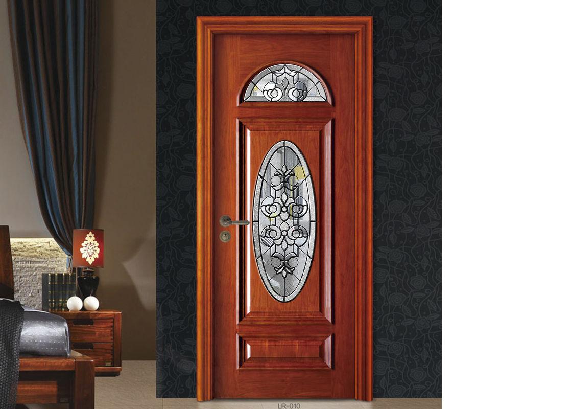Door Window Decorative Patterned Glass Brass Nickel