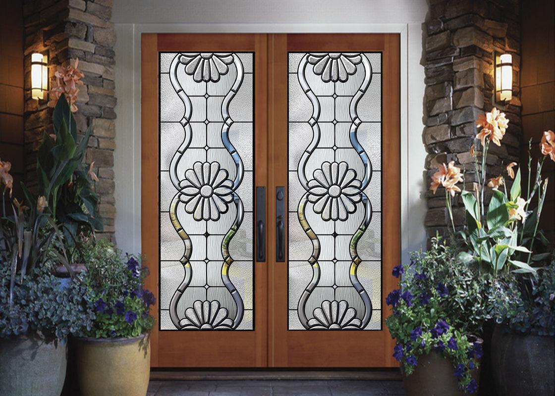 Black Patina Internal Decorative Sliding Glass Door Added