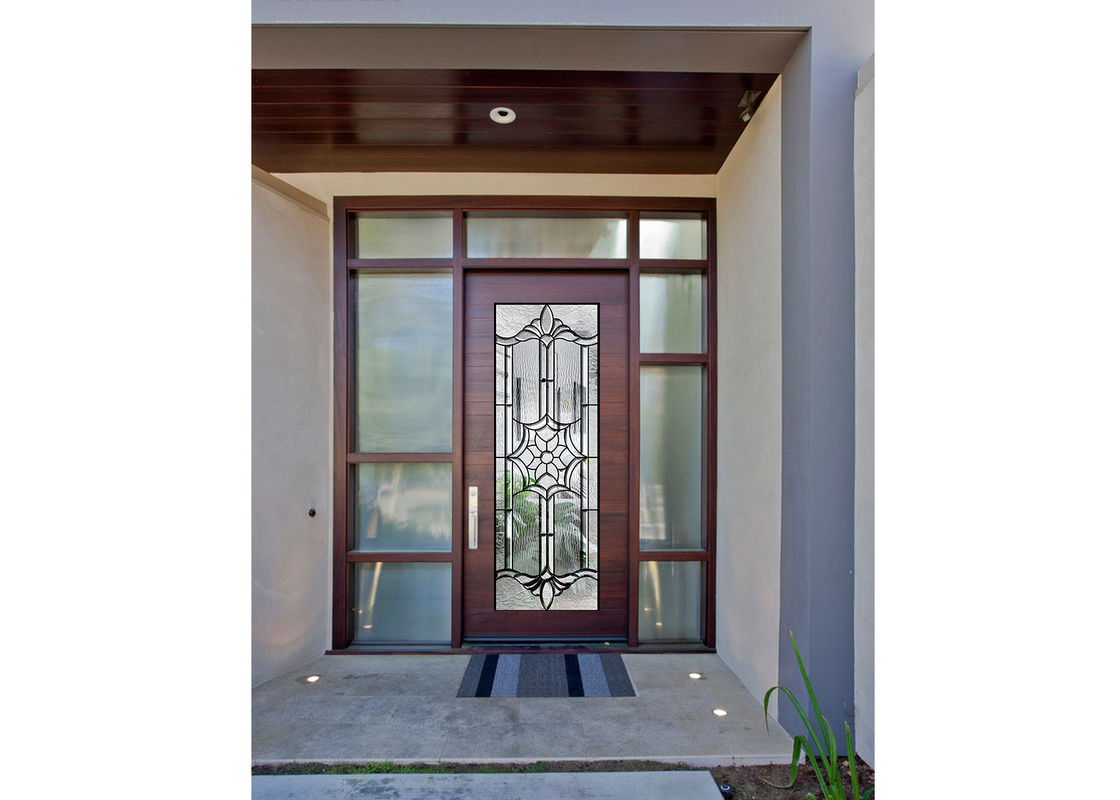Sidelight Decorative Panel Glass Architectural Stained Glass Door