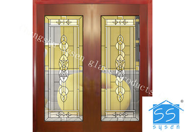 China Custom Glass Panels For Doors , 16-30 Mm Decorative Stained Glass factory