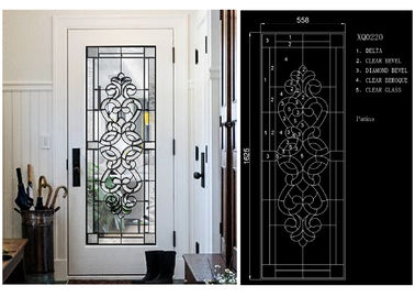 China Fashion Tempered Decorative Glass Panels Wood Grain Clear Tinted  Black Patina factory